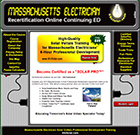 National Electrical Careers provides high-quality solar voltaic training for Massachusetts Electricians with a 6 hour professional training course.